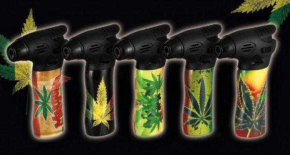 "Torch2 - 4.25"" Butane Torch With Leaf"