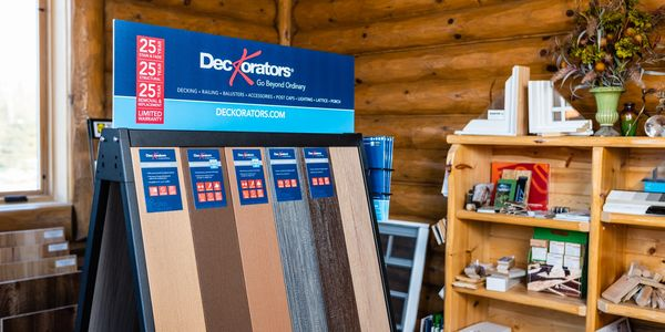 Products showroom at Stevens Point Log Homes model office