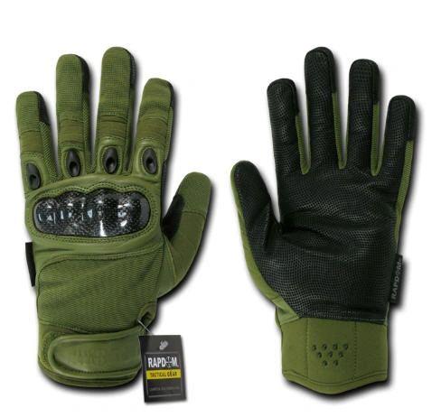 Carbon Fiber Knuckle Tactical Glove, OD Green, XX-Large