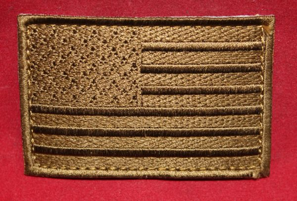 American Flag Patch - Tan