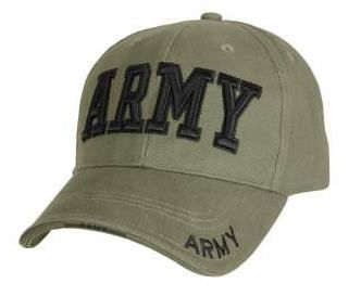 Deluxe Army Embroidered Low Profile Insignia Cap - Choice of Colour