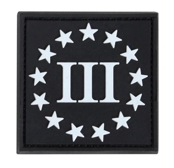 PVC III% 3-Percenter Morale Patch
