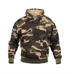 Woodland Camo Pullover Hooded Sweatshirt