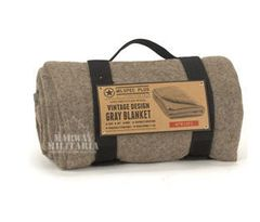 "100% Recycled Wool - 60"" X 88"" Blanket - Grey"