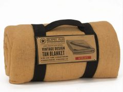 "100% Recycled Wool - 60"" X 88"" Blanket - Tan"