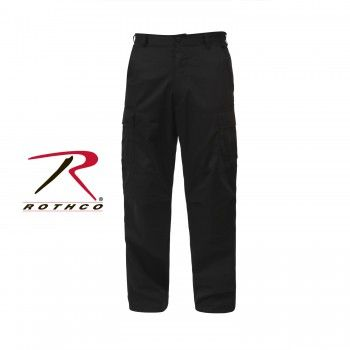Solid Colour Tactical BDU Pants BLACK