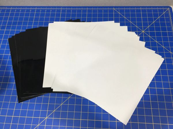"Oracal 651 Adhesive Craft Vinyl 12 12""x12"" Sheets, 6 Black, 6 White"