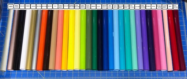 "Siser EasyWeed Iron On Heat Transfer 5 12"" x 15"" Rolls, Choose Colors"