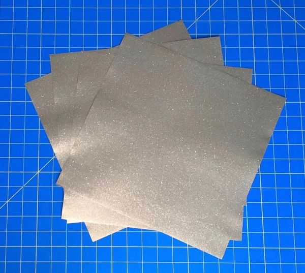 Siser Glitter PSV Permanent Adhesive Vinyl, 5 Sheets Choose Color