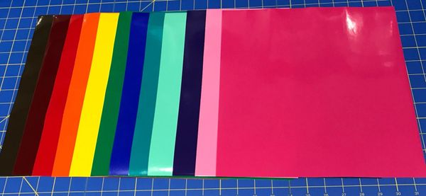 "Starter Pack Oracal 651 Permanent Vinyl 12 Popular Colors 12"" sheets"
