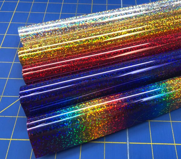 """Siser Holographic Iron On Heat Transfer 5' Roll, 20"""" x 60"""" , Choose Color"""