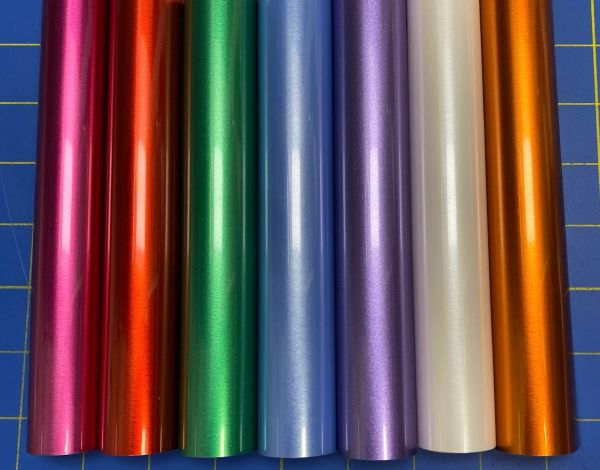 "Siser EasyWeed Electric Iron On Heat Transfer, Beautiful Pearlescent Colors, 5 12"" x 15"" Rolls, Choose Colors"