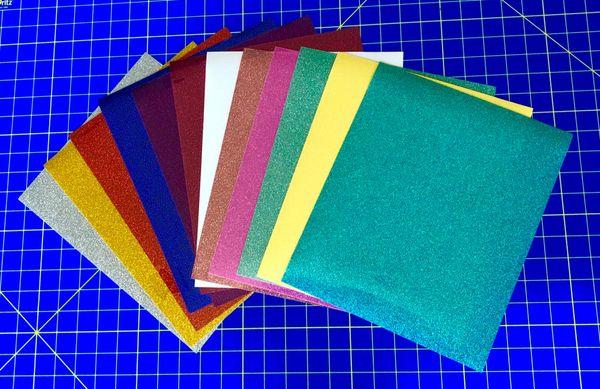 "Siser Glitter Sheets, 3 10""x12"" Sheets"