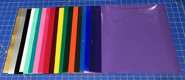 "Oracal 651 Colors 10 12""x12"" Sheets, Choose Your Colors"