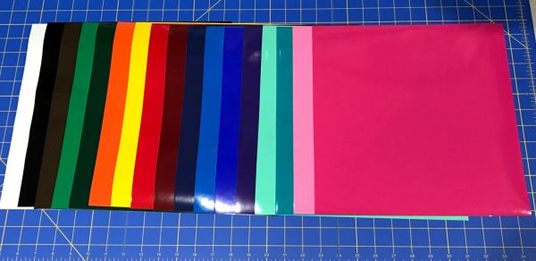 "17 Starter Pack 12"" x 12"" Sheets Oracal 651 Vinyl"