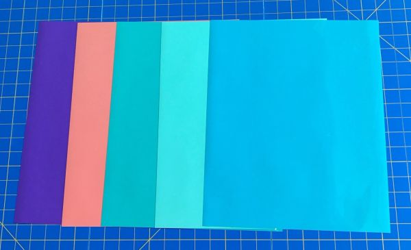 "EasyWeed Iron On Heat Transfer EXCLUSIVE BEACH COLORS! 5 12""x15"" Sheets"