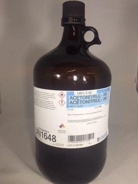 Acetonitrile HPLC Grade 4x4L Part Number 1401-7-40