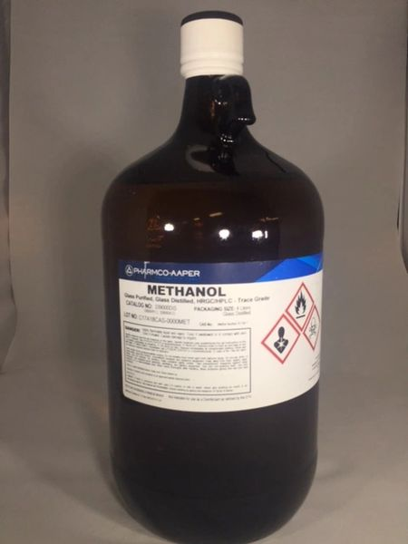 Methanol (Absolute) Glass Distilled 4x4 liter Part Number 339000DISCS4L