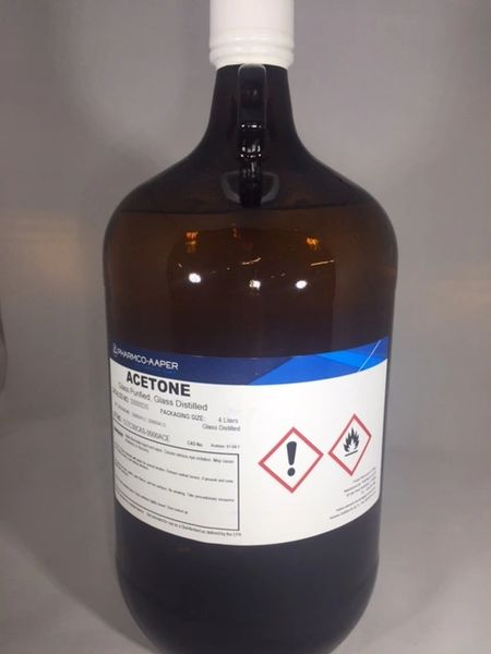 Acetone Glass Distilled 4x4L Part Number 329000DISCS4L