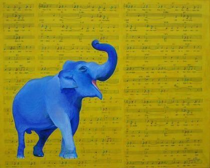 Happy Elephant Singing