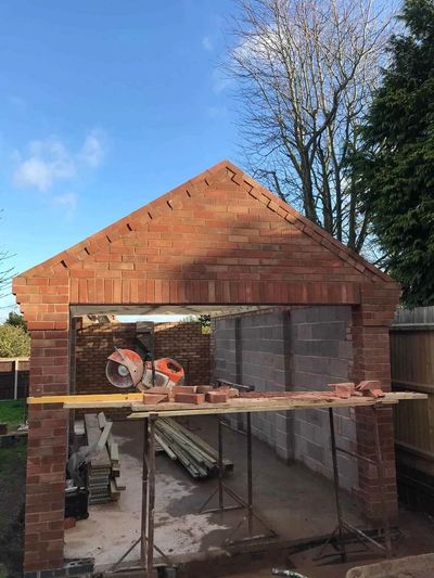 Detached garage builders in Leicestershire by quality construction company