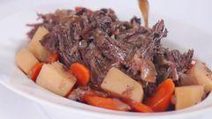 Beef Roast, Potatoes & Carrots Hot Meal