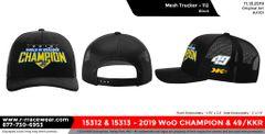 2019 WoO Championship Trucker Hat - Black