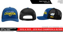 2019 WoO Championship Trucker Hat - Royal/Black