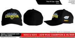 2019 WoO Championship Flex Fit - Black