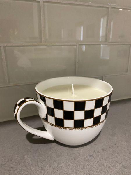 Checkered Citronella Candle