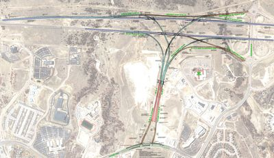 Under construction: Powers Boulevard from I-25 to Voyager Parkway