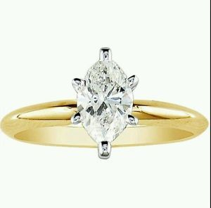 5/8 ctw 14kt Yellow gold Marquise Diamond I-1 & I-J