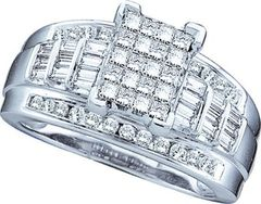 White Gold Cinderella Ring 1.00 ctw.