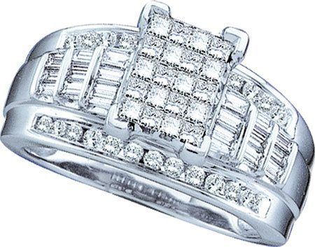White Gold Cinderella Ring 7/8 ctw.