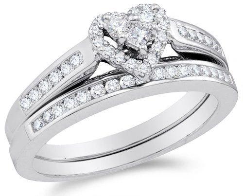 0.50 ctw W/G Heart Shape Bridal set.