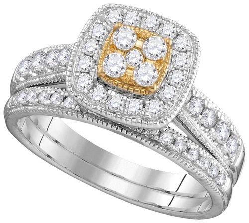 14 KT, 3/4CTW NATURAL YELLOW DIAMOND FASHION BRIDAL SET