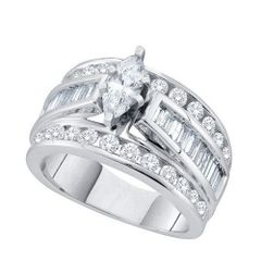 1 CTW DIAMOND MARQUISE RING