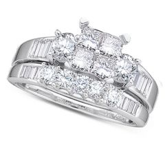 1/2CTW DIAMOND PRINCESS CENTER BRIDAL SET