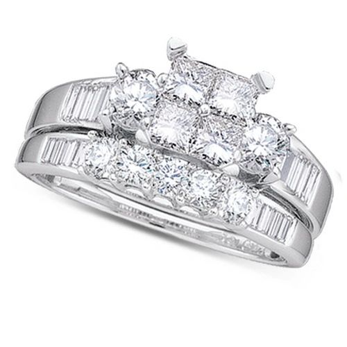 1/2CTW DIAMOND PRINCESS CENTER BRIDAL SET