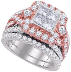 2 & 7/8CTW DIAMOND INVISIBLE BRIDAL RING