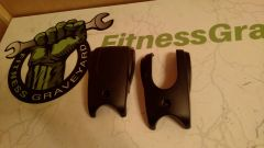 Life Fitness X3/X3i/X5/X5i Elliptical Lower Rocker Arm Cover Black Either Side - Used - Ref. # JG2557