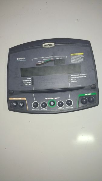 Precor C 936i C936i # 48057-111 - USED - Console Overlay Assembly REF# 10457