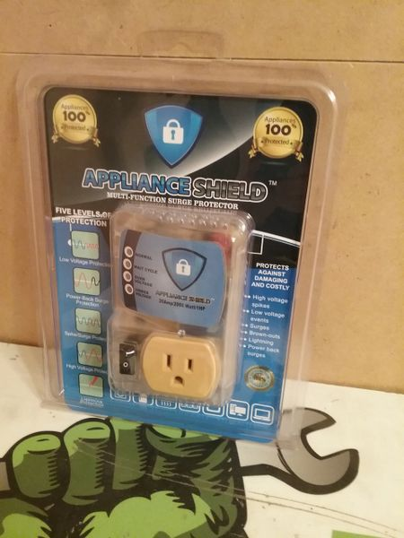 """* """"Appliance Shield"""" Surge Protector (High Voltage Protector & Indicator) NEW"""