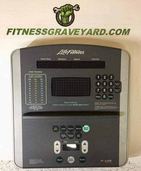 * Life Fitness 95Xi Quiet Drive Console # AK62-00145-0000 - USED TMH49191SM