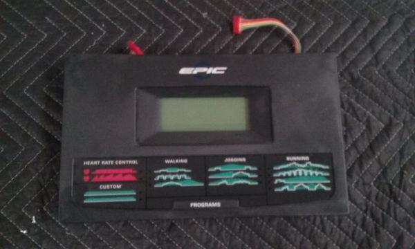 Epic 425 MX Treadmill Upper Console - Used - REF#STL-850