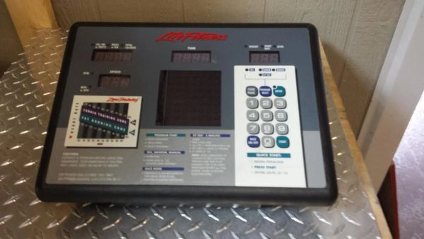 LifeFitness Upright Bike Console - Used - Ref. # JG 2566