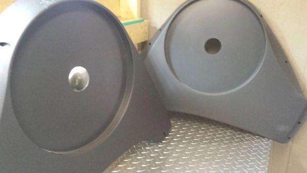 LifeFitness X5i/X3 Elliptical # 6911201 // 6911101 Rear Plastic covers - Pair - Used - Ref. # JG2613