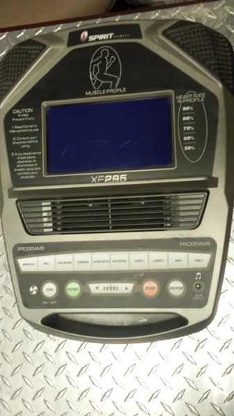 Spirit XE295 Elliptical Top Console Used Ref. # JG2747