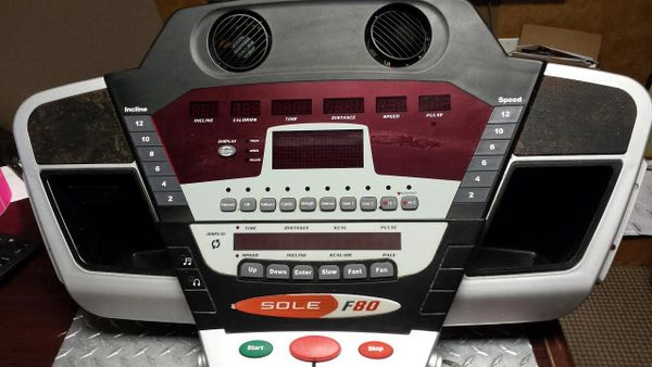 Sole F80 Treadmill console and Board Used Ref. # JG2756