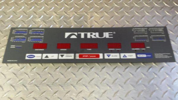 True 350P Treadmill Top Console Overlay/Circuit Board Ref. # JG2820